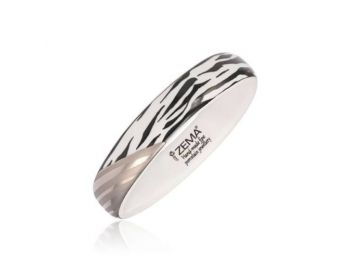 Zebra mintás finomporcelán karperec (keskeny)