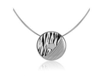 Zebra mintás finomporcelán medál (kicsi)