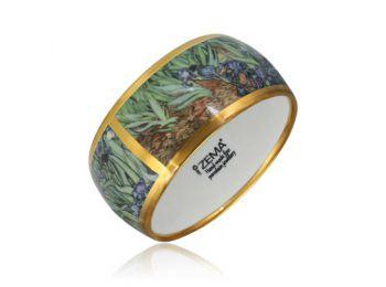 Van Gogh arannyal festett porcelán karkötő