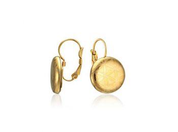 Arannyal festett minimál fülbevaló (franciakapcsos)