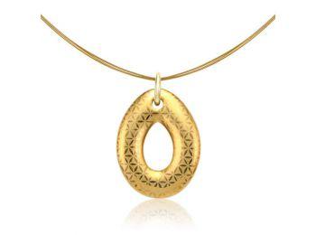 Minimál arannyal festett kicsi csepp medál