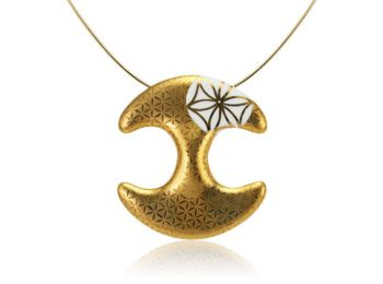 Bronzkori arannyal festett medál