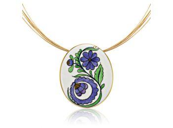 Palóc ovális lila medál