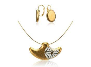 Bronzkori arany kis medál franciakapcsos fülbevalóval