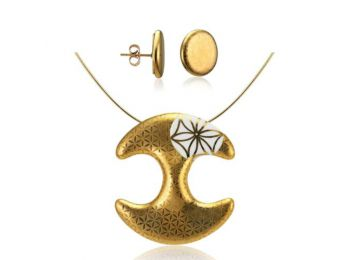 Bronzkori arany medál bedugós fülbevalóval