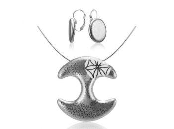 Bronzkori platina medál franciakapcsos fülbevalóval
