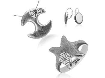 Bronzkori platina medál franciakapcsos fülbevalóval és k