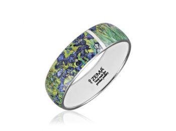 Van Gogh platinával festett porcelán karkötő