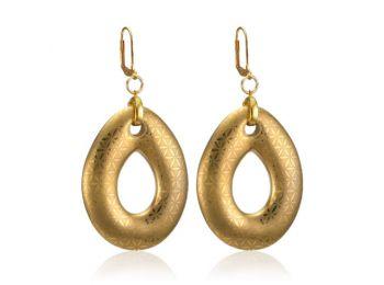Minimál arannyal festett csepp fülbevaló