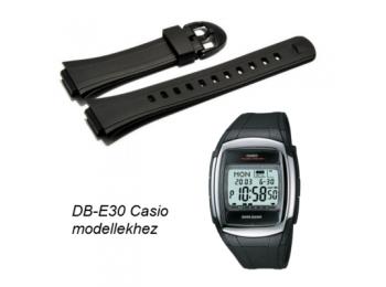 DB-E30-1 Casio fekete műanyag szíj - rkt