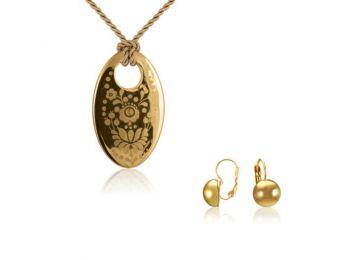 Simple arany kalocsai medál franciakapcsos arany lencse fü