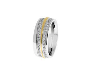 Női acél karikagyűrű (AC19)