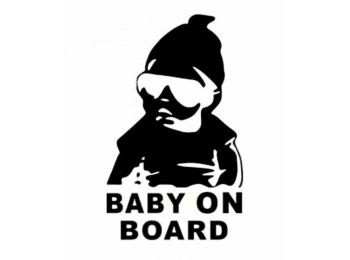 Vicces Baby on Board matrica