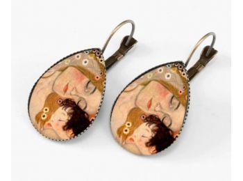 Gustav Klimt: Anya és gyermeke fülbevaló