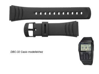 DBC-32 Casio fekete műanyag szíj