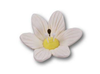36 db nagy méretű fehér liliom cukorvirág (nem ehető)