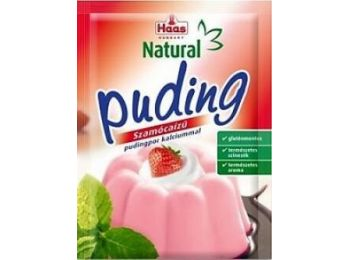 Haas natural gluténmentes pudingpor szamóca 40 g