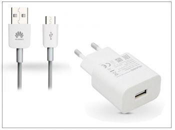 Huawei gyári USB hálózati töltő adapter + micro USB adatkábel - 5V/2A és 9V/2A - Quick Charge AP32 HW-059200EHQ white (ECO csomagolás)