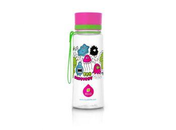 EQUA kulacs pink szörnyecskés 400 ml (BPA mentes műanyag)