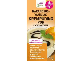 Szafi Reform Narancsos-vaníliás krémpudingpor édesítős