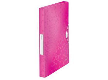 Gumis mappa, 30 mm, PP, A4, LEITZ Wow Jumbo, rózsaszín (E4