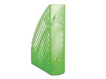 Iratpapucs, műanyag, 70 mm, DONAU, áttetsző zöld (D74621