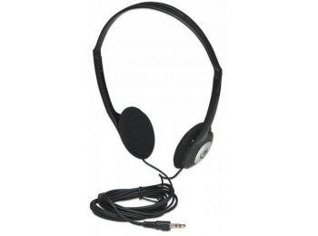 Fejhallgató, vezetékes, sztereo, MANHATTAN 177481 (MAFH177