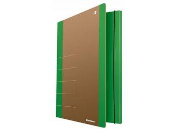 Gumis mappa, karton, A4, DONAU Life, neon zöld (D2060Z)