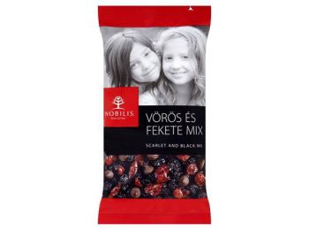 Aszalt gyümölcs és étcsokoládé, 100 g, NOBILIS Vörös és Fekete Mix (KHE283)