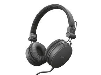 Fejhallgató, vezetékes, TRUST Tones, fekete (TRFH23552)