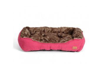 Agui Furry Bed kutyafekhely burgundi  47x37x17 cm