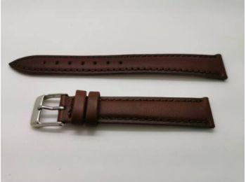 SZ2270  16mm barna színű valódi  bőrszíj