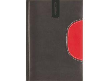 Tárgyalási napló, B5, DAYLINER, Memphis, fekete-piros (NM