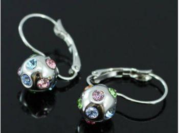 Swarovski kristályos fülbevaló többszínű kristályokka