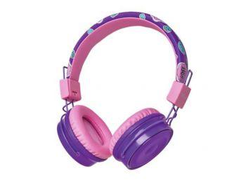 Fejhallgató, vezeték nélküli, gyerekeknek, TRUST BT Kids, lila (TRFH23608)