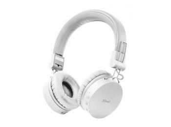 Fejhallgató, vezeték nélküli, TRUST Tones, fehér (TRFH23909)