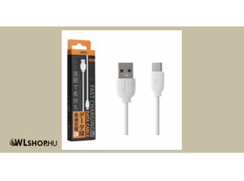 Remax SUJI USB-C adat/töltőkábel 2,1A 1m - Fehér