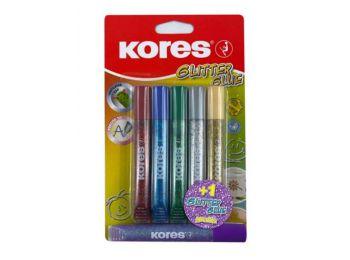 Csillámos ragasztó, KORES, 5 + 1 db ajándék (IK75001A)