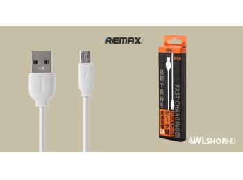 Remax SUJI microUSB adat/töltőkábel 2,1A 1m - fehér