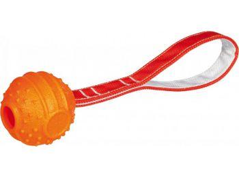 Trixie Játék Soft & Strong labda kötéllel 7cm/29cm narancs
