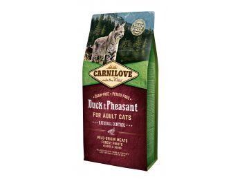 CarniLove Cat Adult Kacsa & fácán – Hairball Control