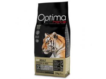 Visán Optimanova Cat Adult Chicken&Rice 2 kg macskatáp