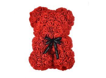 Örök rózsa maci- 25 cm- piros