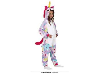 Színes, csillag mintás unikornis pizsama - gyerek (méret: