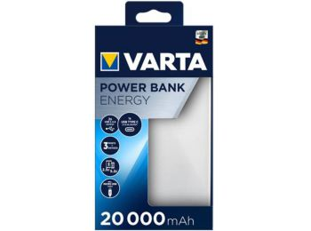Hordozható akkumulátor, 20000 mAh, VARTA (VHAK20)