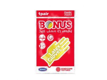 Bonus gumikesztyű 1 pár méret:S, M, L, XL (Sárga. Méret