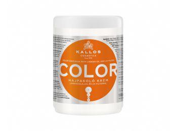 Kallos Color hajpakoló krém lenmagolajjal és UV filterrel festett, töredezett hajra, 1 l