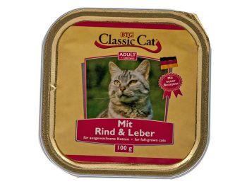 Classic Cat marhás és májas alutálkás macskaeledel 100 g