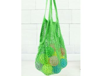 Pamut hálós bevásárló táska zöld