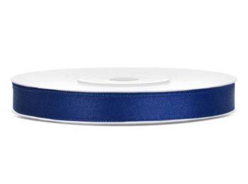Szatén szalag, 6 mm,  sötét kék (PTS6074)